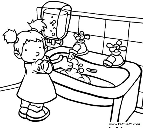 for Personal hygiene coloring pages
