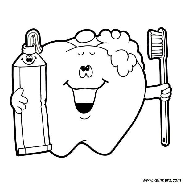 child brushing teeth coloring pages - photo#12